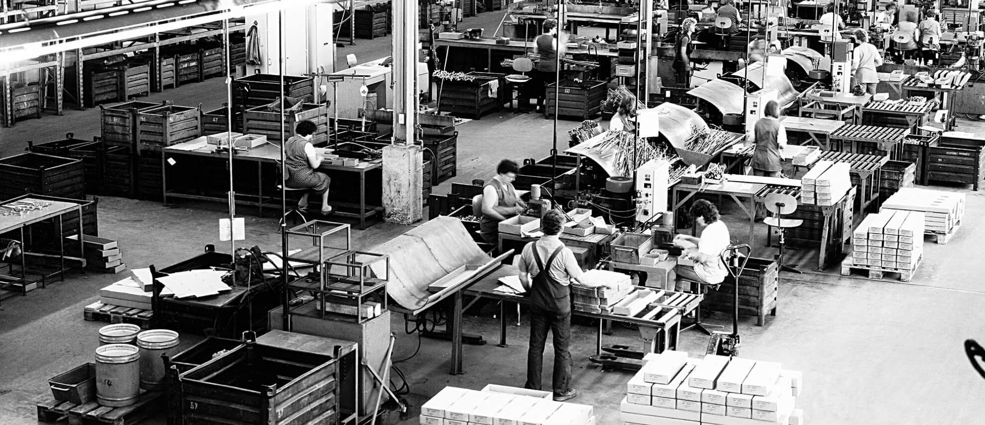Production usine Bilstein en 1980